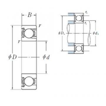 95 mm x 200 mm x 45 mm  NSK BL 319 Z deep groove ball bearings