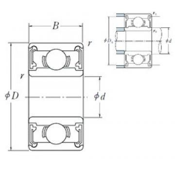 6 mm x 17 mm x 6 mm  NSK 606 VV deep groove ball bearings