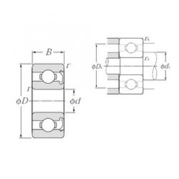 6 mm x 17 mm x 6 mm  NTN 606Z deep groove ball bearings