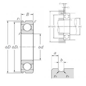 110 mm x 140 mm x 16 mm  NTN 6822N deep groove ball bearings