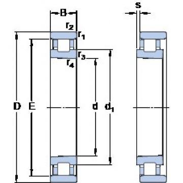 70 mm x 110 mm x 20 mm  SKF N 1014 KPHA/SP cylindrical roller bearings