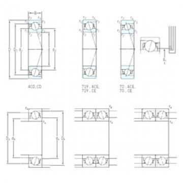 6 mm x 17 mm x 6 mm  SKF 706 CE/HCP4A angular contact ball bearings