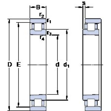 70 mm x 110 mm x 20 mm  SKF N 1014 KTN/HC5SP cylindrical roller bearings