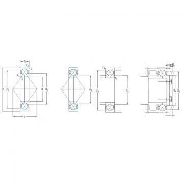 150 mm x 320 mm x 65 mm  SKF QJ330N2MA angular contact ball bearings