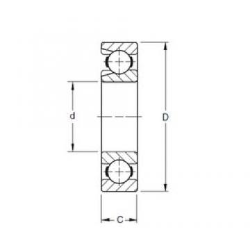 95 mm x 200 mm x 45 mm  Timken 319W deep groove ball bearings