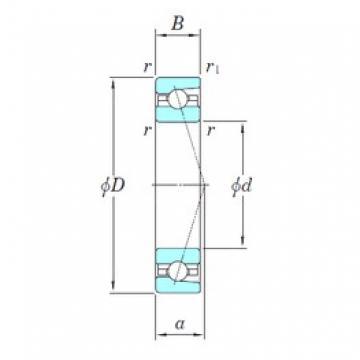 105 mm x 145 mm x 20 mm  KOYO 3NCHAC921CA angular contact ball bearings