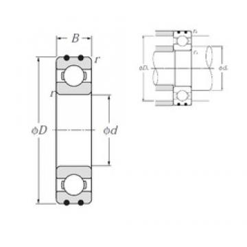10 mm x 30 mm x 9 mm  NTN AC-6200 deep groove ball bearings