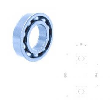 70 mm x 110 mm x 20 mm  Fersa 6014 deep groove ball bearings