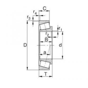 40 mm x 90 mm x 23 mm  KBC 30308DJ tapered roller bearings