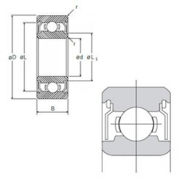 5 mm x 14 mm x 5 mm  NMB R-1450ZZ deep groove ball bearings