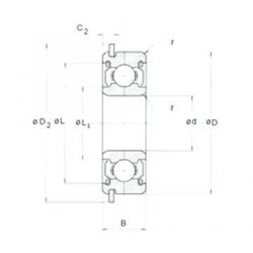6 mm x 17 mm x 6 mm  NMB RNR-1760X2ZZ deep groove ball bearings