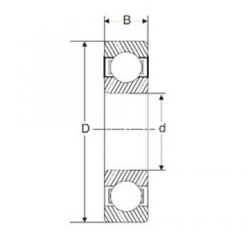 45 mm x 75 mm x 16 mm  SIGMA 6009 deep groove ball bearings