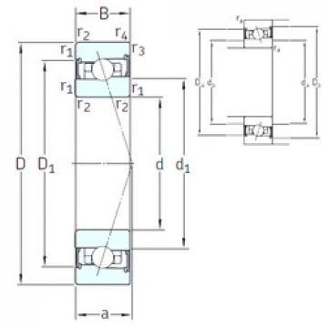 45 mm x 75 mm x 16 mm  SNFA HX45 /S 7CE1 angular contact ball bearings