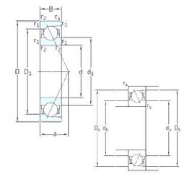 95 mm x 170 mm x 32 mm  SNFA E 295 7CE1 angular contact ball bearings