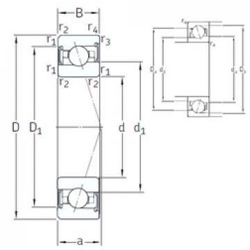 45 mm x 75 mm x 16 mm  SNFA VEX 45 /S 7CE3 angular contact ball bearings