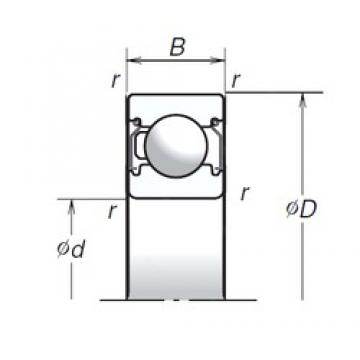 10 mm x 30 mm x 9 mm  NSK 6200T1XZZ deep groove ball bearings