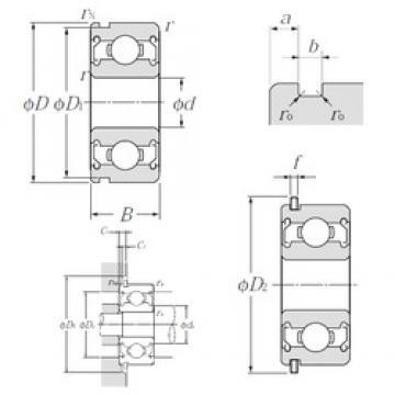 5 mm x 14 mm x 5 mm  NTN SC571ZZNR deep groove ball bearings