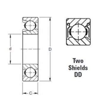 95 mm x 170 mm x 32 mm  Timken 219WDD deep groove ball bearings