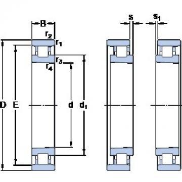 70 mm x 110 mm x 20 mm  SKF N 1014 KTNHA/SP cylindrical roller bearings