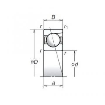 6 mm x 17 mm x 6 mm  NSK 706C angular contact ball bearings