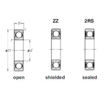 5 mm x 14 mm x 5 mm  Loyal 605-2RS deep groove ball bearings
