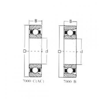 95 mm x 170 mm x 32 mm  Loyal 7219C angular contact ball bearings