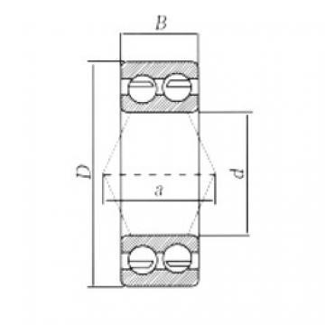 25 mm x 62 mm x 25,4 mm  Loyal 3305-2RS angular contact ball bearings