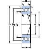 110 mm x 170 mm x 28 mm  SKF 7022 CB/P4A angular contact ball bearings