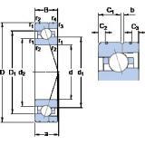 110 mm x 170 mm x 28 mm  SKF 7022 ACE/HCP4AL angular contact ball bearings