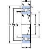 110 mm x 170 mm x 28 mm  SKF S7022 CB/HCP4A angular contact ball bearings