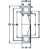 110 mm x 170 mm x 28 mm  SKF 7022 CD/HCP4A angular contact ball bearings