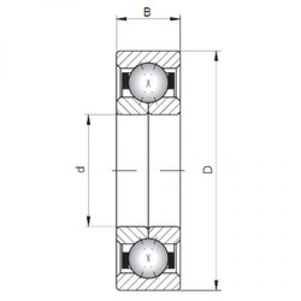 ISO QJ330 angular contact ball bearings #1 image