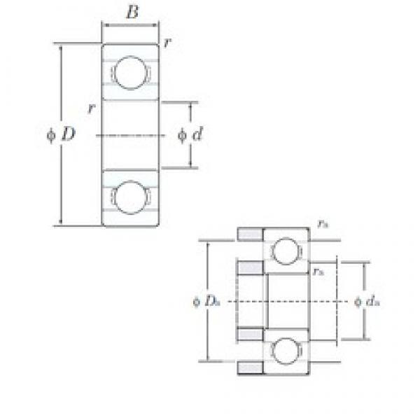 6 mm x 17 mm x 6 mm  KOYO 606 deep groove ball bearings #1 image