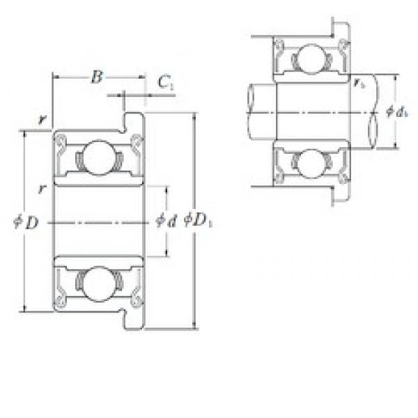 6 mm x 17 mm x 6 mm  ISO F606-2RS deep groove ball bearings #1 image
