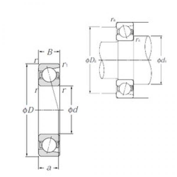 105 mm x 145 mm x 20 mm  NTN 7921 angular contact ball bearings #1 image