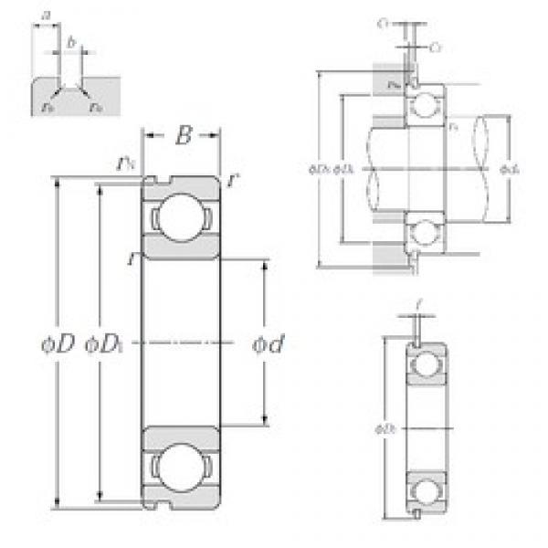 45 mm x 75 mm x 16 mm  NTN 6009NR deep groove ball bearings #1 image