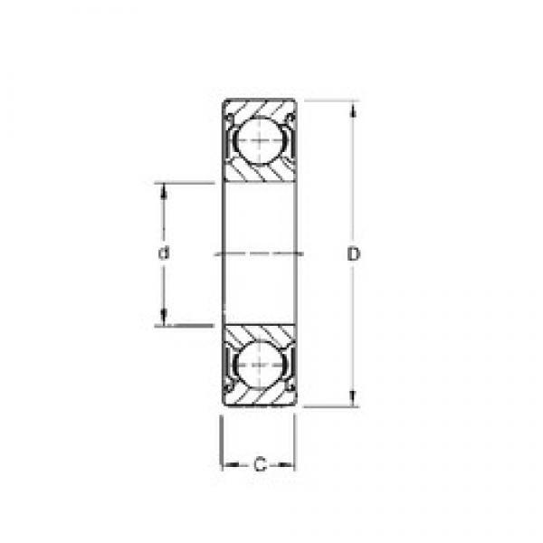 25 mm x 62 mm x 25,4 mm  CYSD W6305-ZZ deep groove ball bearings #1 image