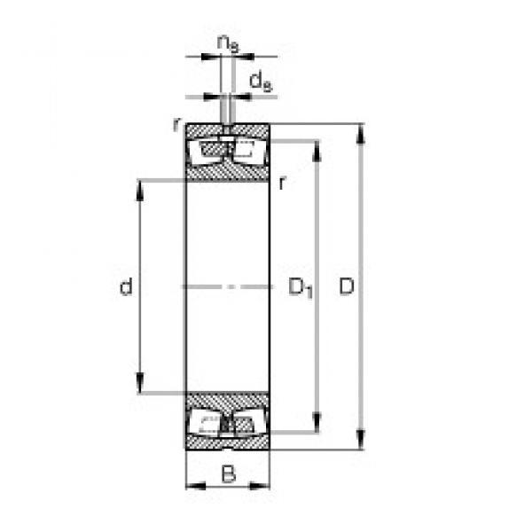 280 mm x 500 mm x 130 mm  FAG 22256-B-MB spherical roller bearings #1 image