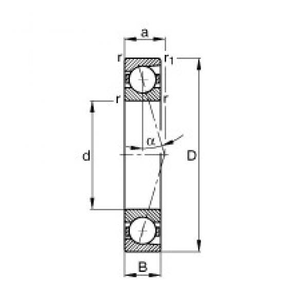 45 mm x 75 mm x 16 mm  FAG B7009-C-T-P4S angular contact ball bearings #1 image