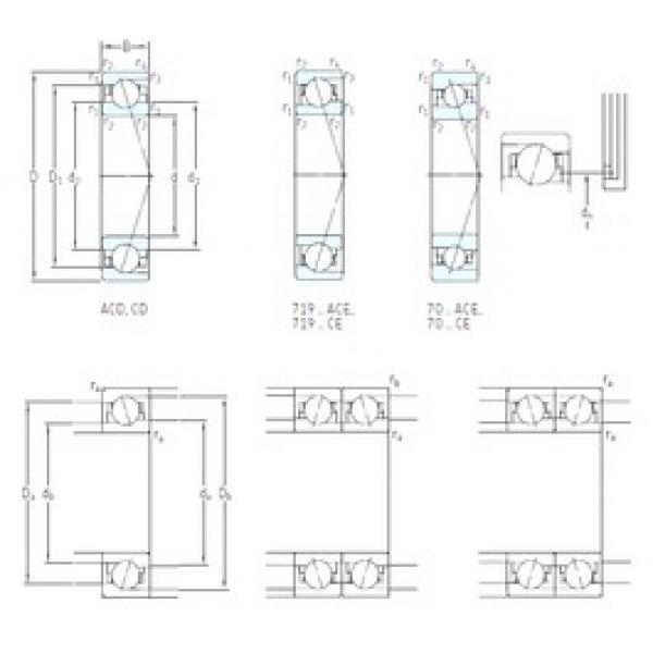 110 mm x 140 mm x 16 mm  SKF 71822 ACD/HCP4 angular contact ball bearings #1 image