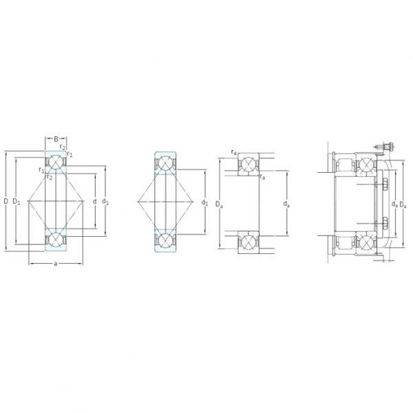 150 mm x 320 mm x 65 mm  SKF QJ330N2MA angular contact ball bearings #1 image